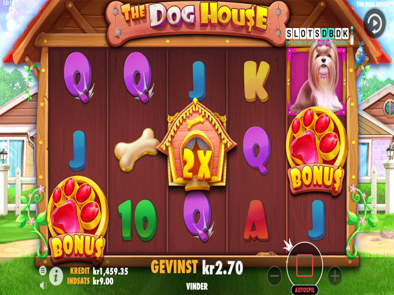 The dog house spillemaskine hjul
