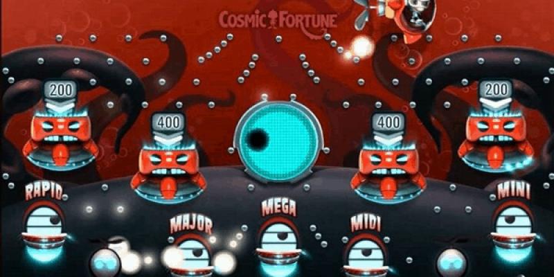 Cosmic fortune spillemaskine screenshot